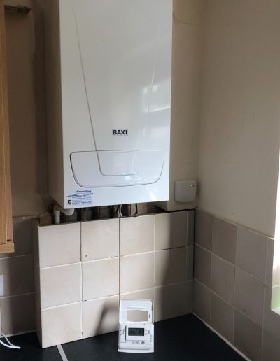 Boiler Gallery - Baxi boiler with wireless control panel - Freeflow heating and plumbing
