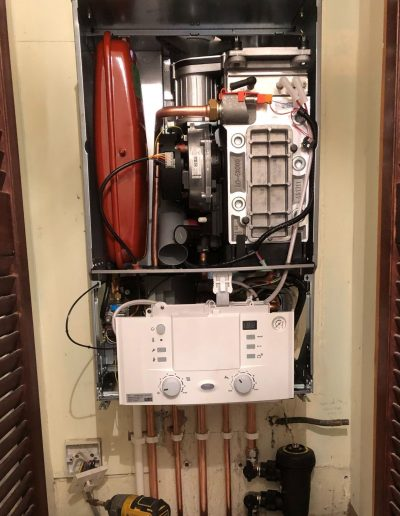 Boiler Gallery - Inside a new boiler installation - Freeflow heating and plumbing