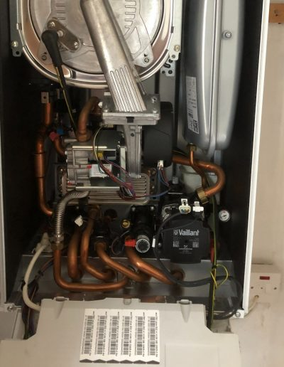Boiler Gallery - inside of a new boiler installation - Freeflow heating and plumbing