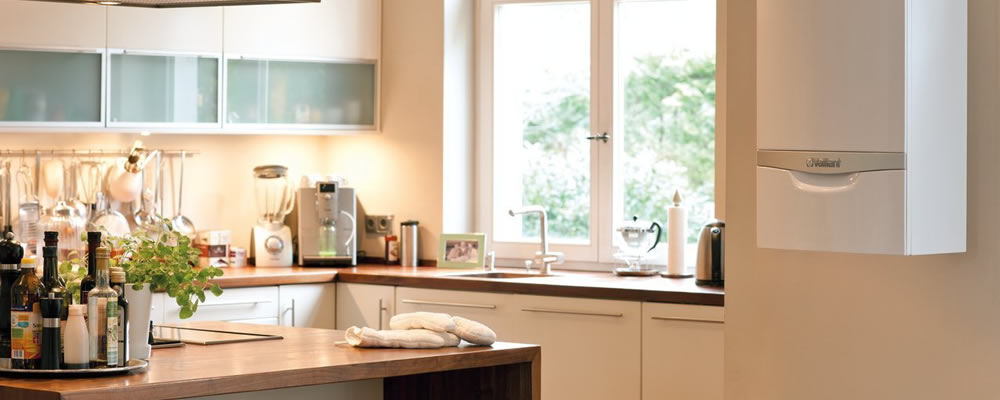 Boiler-Installation Plymouth - boiler in modern kitchen - Freeflow Plumbing and Heating