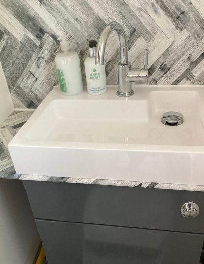 Kitchen and Bathroom Installations gallery - New geometric sink installation - Freeflow heating and plumbing