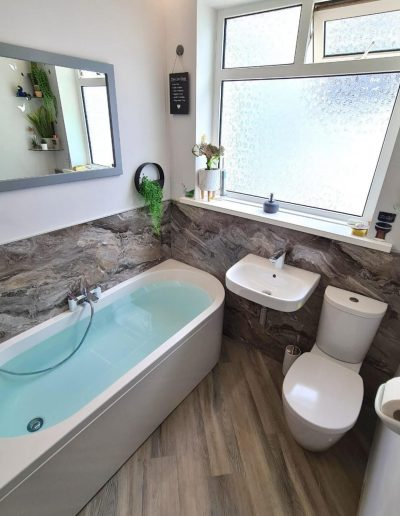 Kitchen and Bathroom Installations gallery - New modern earthy bathroom installation - Freeflow heating and plumbing