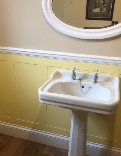 Kitchen and Bathroom Installations gallery - old fashioned new sink installation - Freeflow heating and plumbing