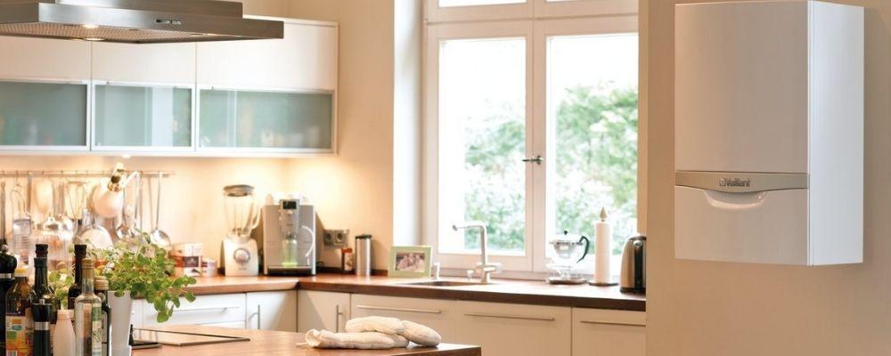 LPG Boilers Plymouth - Boiler in kitchen - Freeflow Plumbing and Heating