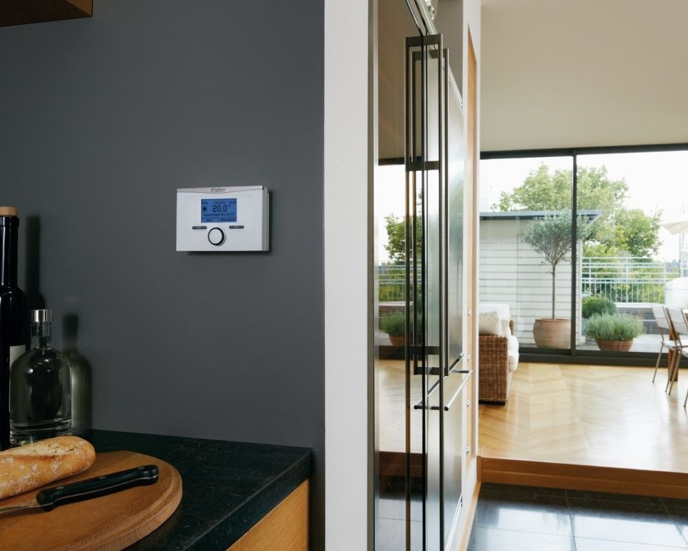 Smart Thermostats Plymouth - Thermostat in Kitchen - Freeflow Plumbing and Heating