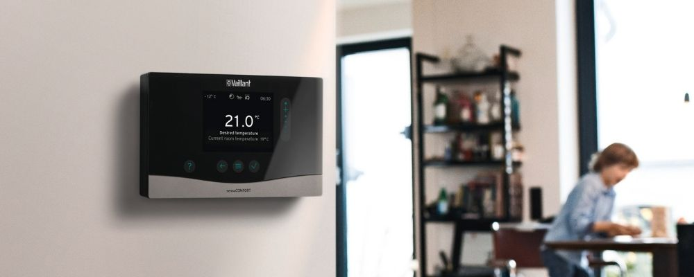 Smart Thermostats Plymouth - Thermostat in lounge - Freeflow Plumbing and Heating