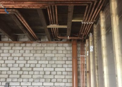 freeflow plumbing on site gallery - angled overhead pipe fittings - Freeflow heating and plumbing