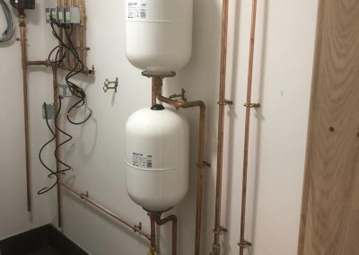 freeflow plumbing on site gallery - fitted pipes and gas cylinders - Freeflow heating and plumbing