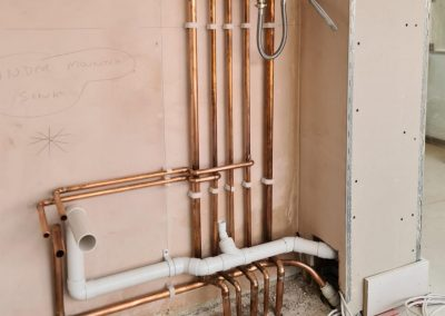 freeflow plumbing on site gallery - newly fitted pipes for a boiler installation - Freeflow heating and plumbing