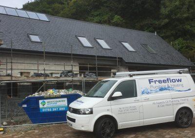 freeflow plumbing on site gallery - van on site - Freeflow heating and plumbing